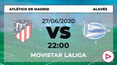 Atlético-Alavés: horario y dónde ver el partido de Liga Santander hoy en directo por TV online.