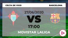 Celta – Barcelona: horario y dónde ver el partido de Liga Santander hoy en directo por TV online.