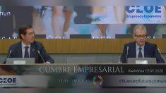 Antonio Garamendi, presidente de la patronal, y Pablo Isla, presidente de Inditex.