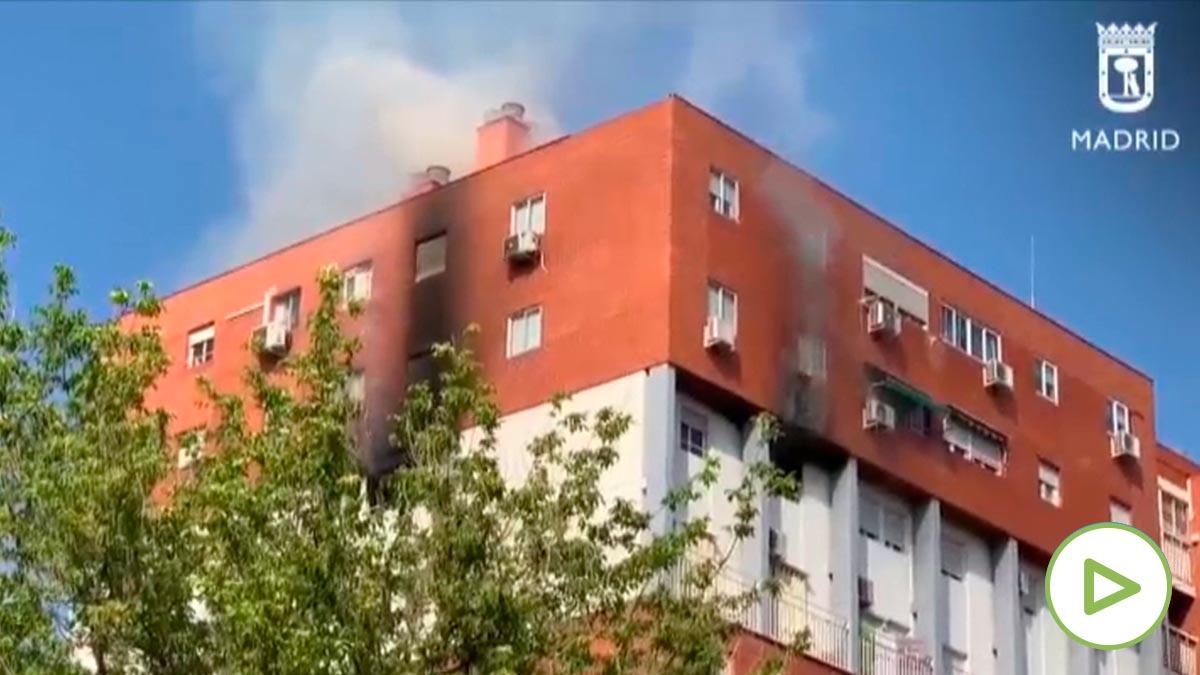 Incendio en Puente de Vallecas
