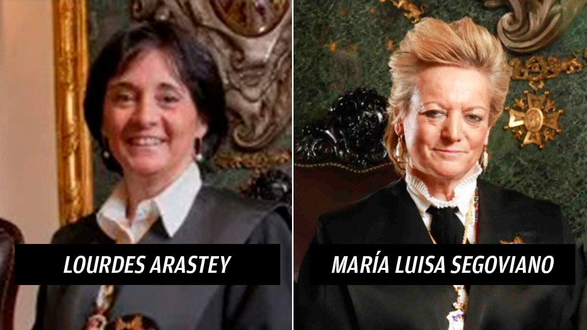 Lourdes Arastey y María Luisa Segoviano.