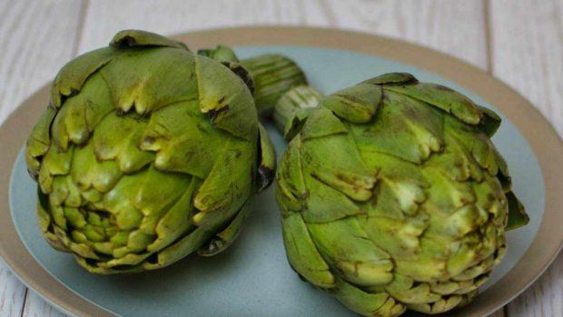 RReceta de hummus de alcachofas y espinacas