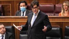 Salvador Illa, en el Congreso. (Foto: PSOE)