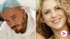 J Balvin y Shakira en imágenes de archivo.