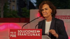 Carmen Calvo, de campaña en Galicia. (Foto: PSOE)