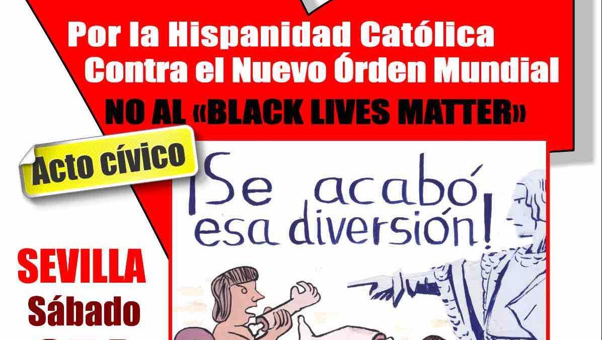 Cartel de la convocatoria contra el Black Lives Matter.