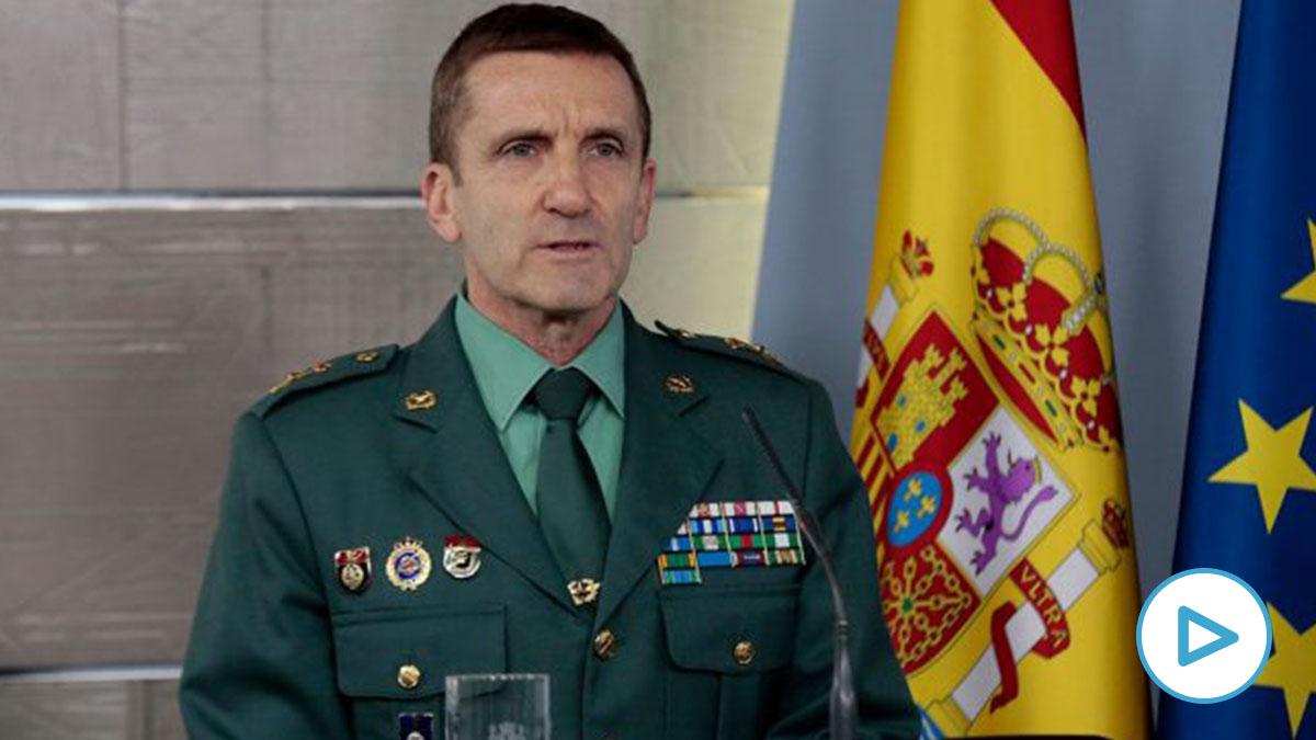 Jefe del Estado Mayor de la Guardia Civil, general José Manuel Santiago (EFE).