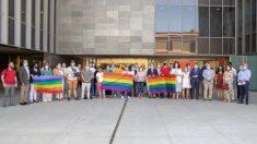 Orgullo Gay en el Ayuntamiento de Sevilla.