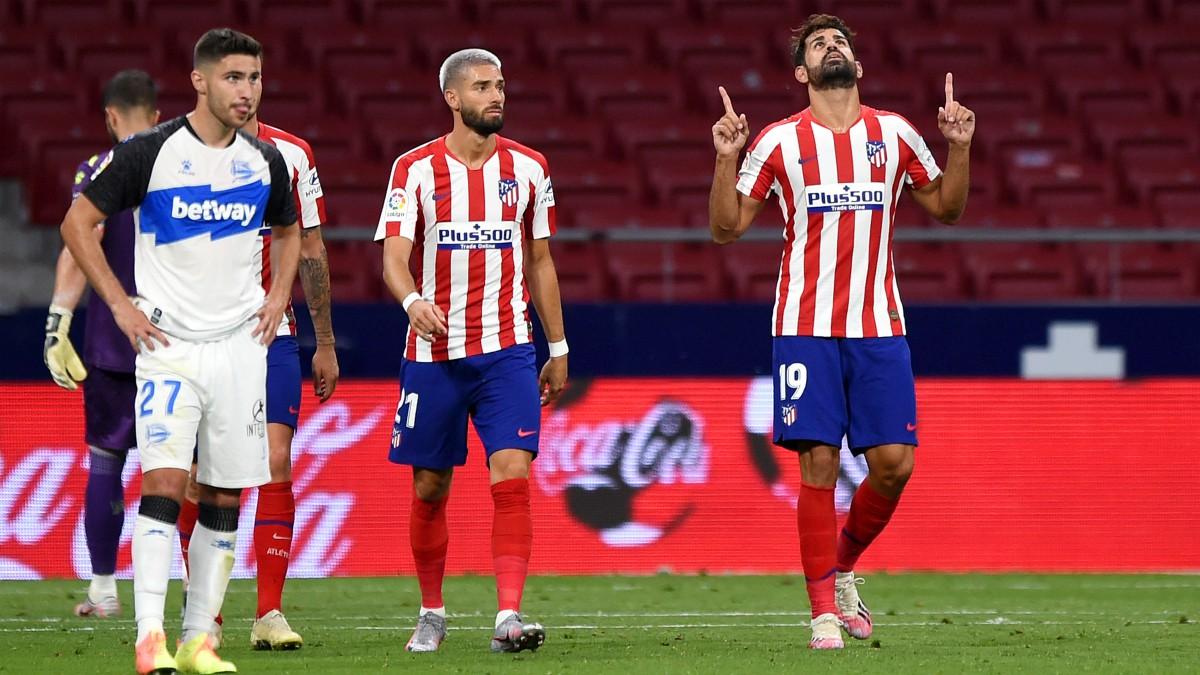 Diego Costa celebra su gol ante el Alavés. (Getty)