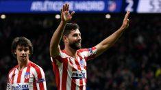 Felipe, en un partido con el Atlético. (AFP)