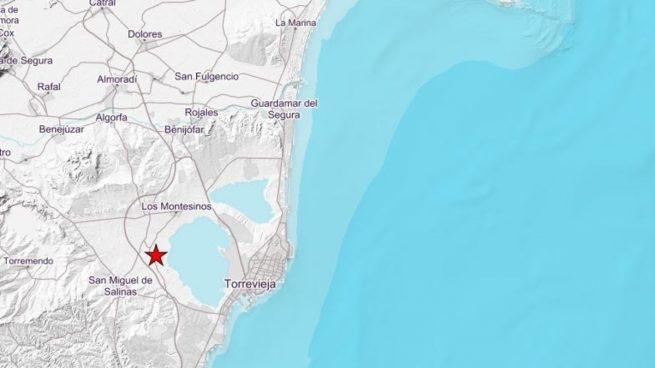 Registrado un terremoto de 3,1 grados de magnitud en San Miguel de Salinas (Alicante)