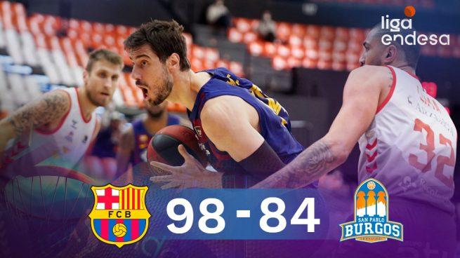 El Barça despierta del sueño a San Pablo Burgos y se mete en la final de la Liga Endesa