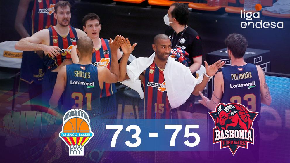 El Baskonia venció a Valencia Basket y jugará la final de la Liga Endesa contra el Barcelona. (EFE)