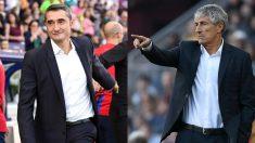 Ernesto Valverde y Quique Setién.
