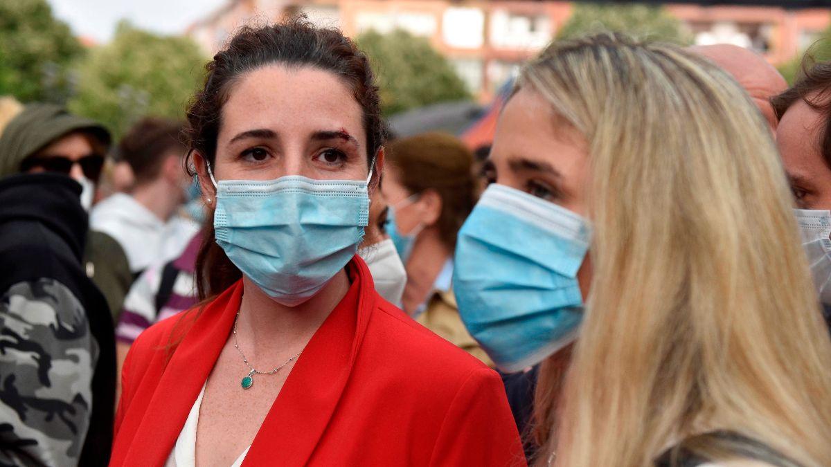 La diputada de Vox Rocío de Meer durante un mitin en Sestao. Foto: EFE