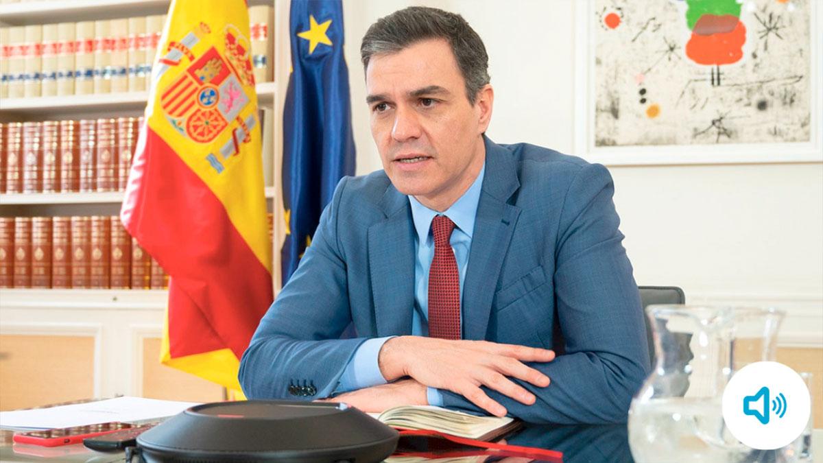 El presidente del Gobierno, Pedro Sánchez, reconoce la tardanza del Ejecutivo en decretar la alarma. (Foto: Moncloa / Audio: La Vanguardia)