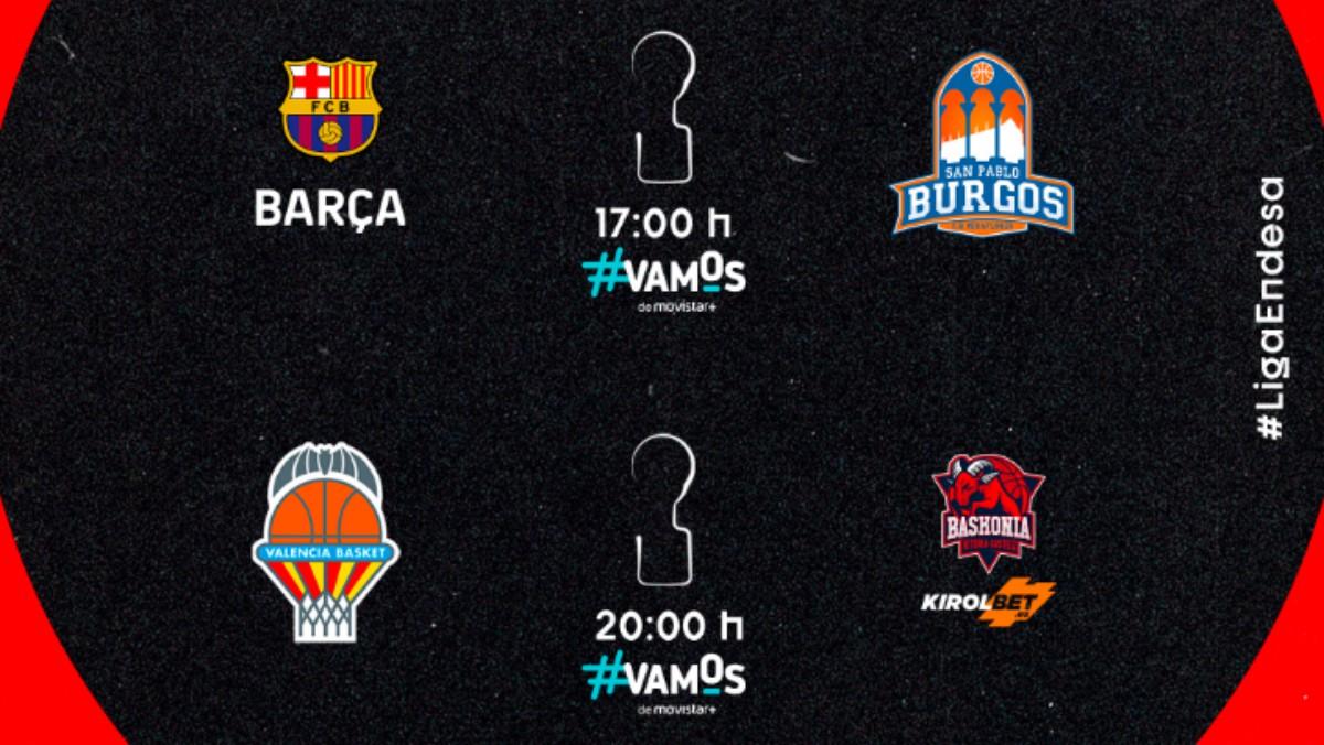 Semifinales Liga Endesa. Horarios y resultados de los partidos de la Fase Final de la Liga ACB.