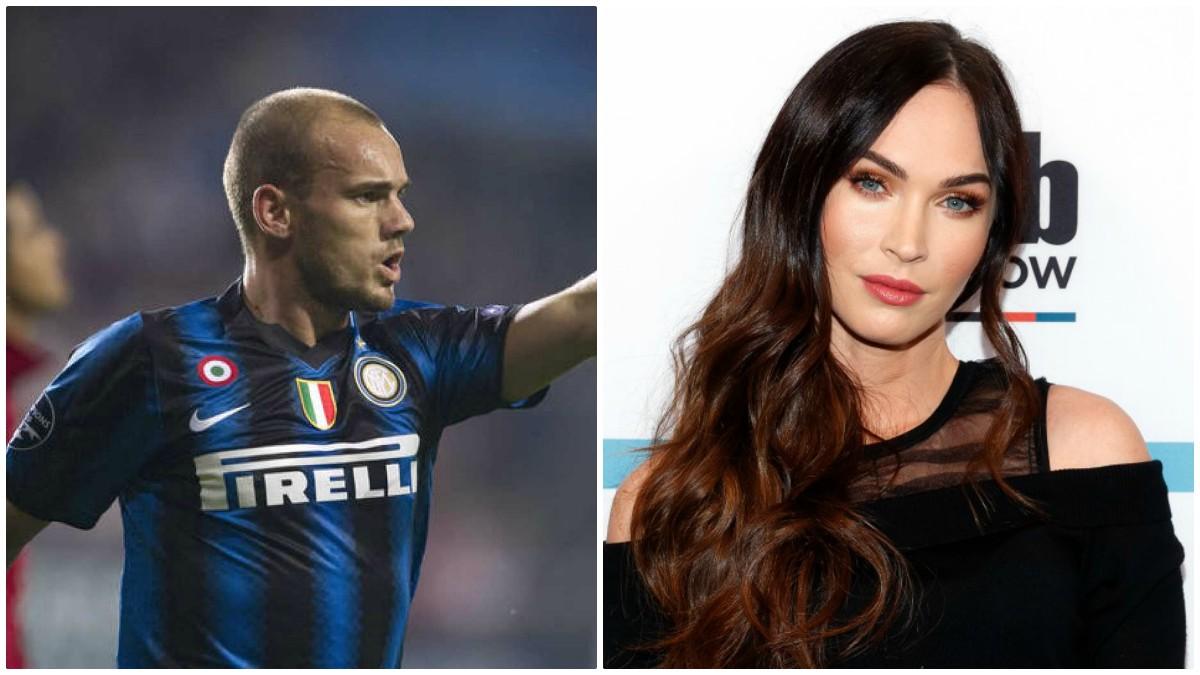 Wesley Sneijder y Megan Fox