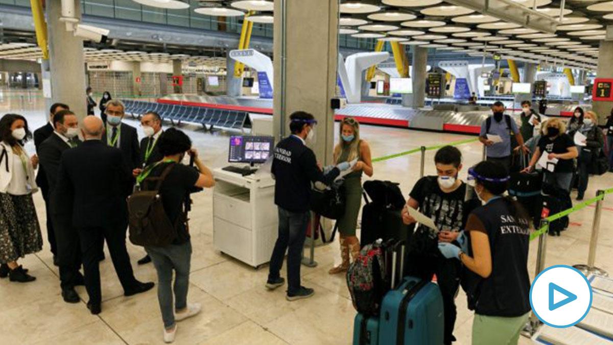 Aduana del aeropuerto Adolfo Suárez Madrid Barajas. (Foto: Ministrio de Transportes)