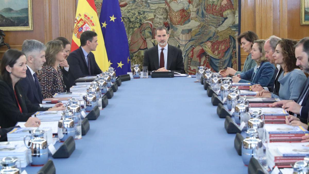 Reunión del Consejo de Seguridad Nacional del pasado 4 de marzo. (Foto: Moncloa)