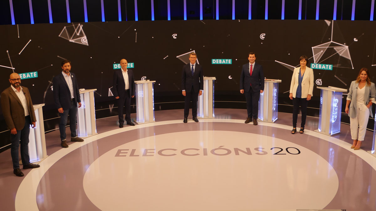 Debate electoral en TVG ante las elecciones gallegas (Foto. EP)
