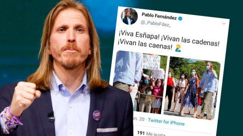 El secretario general de Podemos en Castilla y León, Pablo Fernández