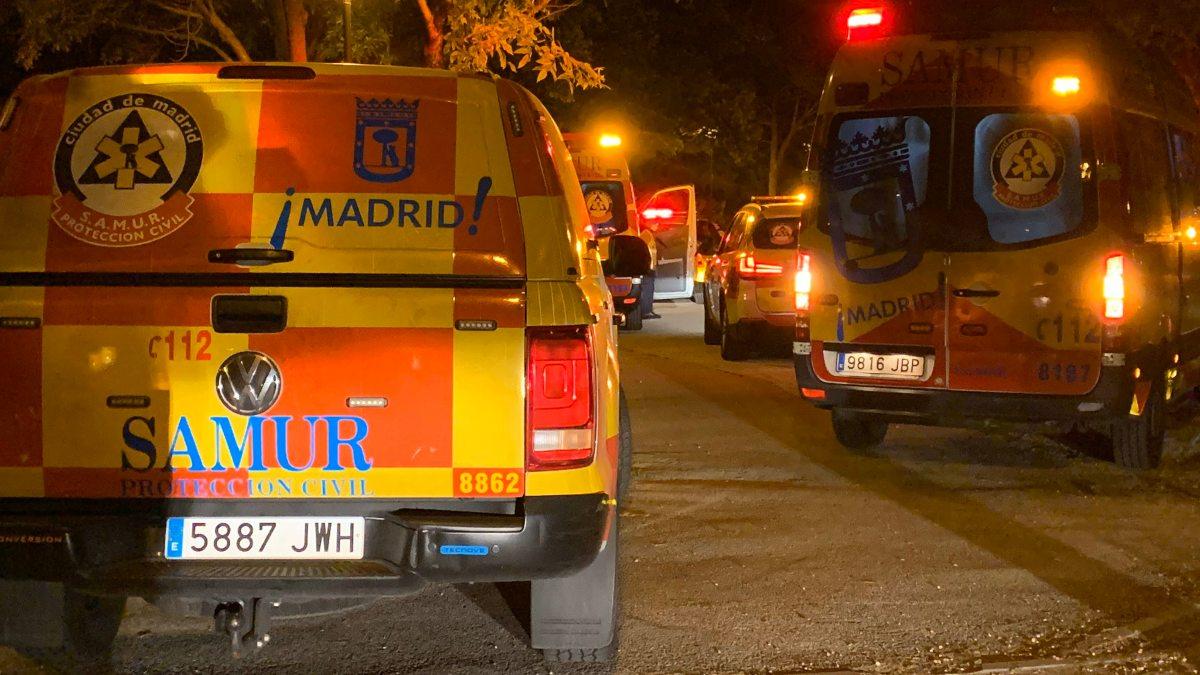 Servicios de Emergencias en Carabanchel. (Foto: Emergencias Madrid)