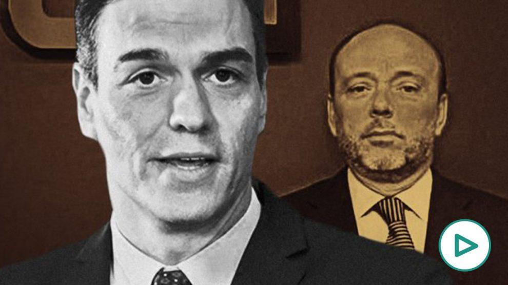 El presidente del Gobierno, Pedro Sánchez, y el presidente del grupo Prisa, Javier Monzón.