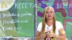 Belén Esteban presentó en 'Sálvame' su primer libro de recetas