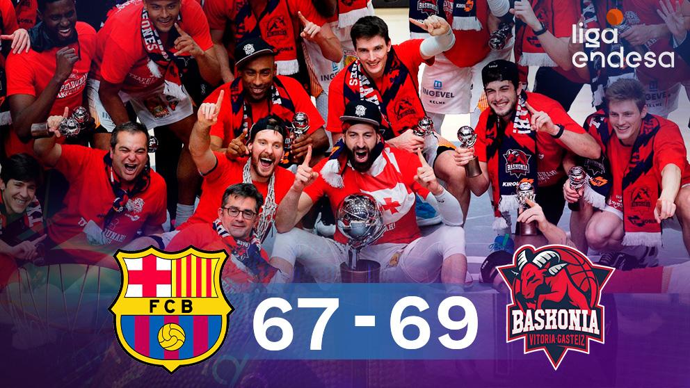 El Baskonia, campeón de la Liga Endesa. (EFE)
