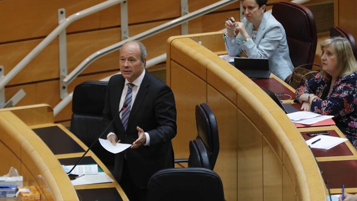 El ministro de Justicia, Juan Carlos Campo, en el Senado. Foto: Europa Press
