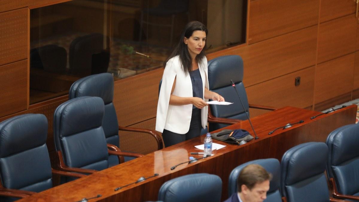 La portavoz de Vox en la Asamblea de Madrid, Rocío Monasterio. Foto: EP