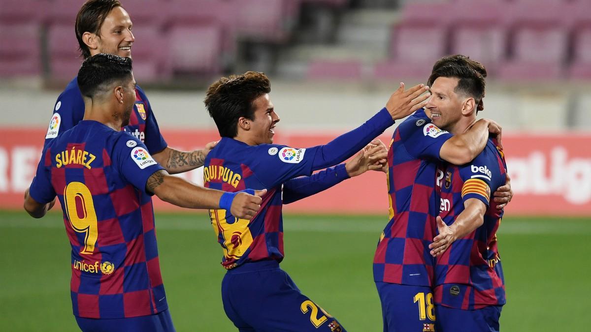 Messi, durante el Barcelona – Atlético. (Getty)