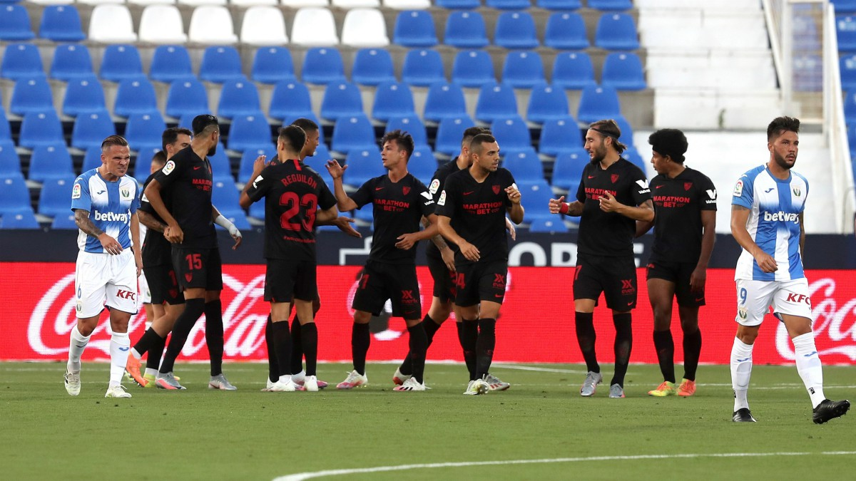 El Sevilla venció al Leganés en Butarque. (EFE)