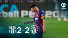 Messi, cabizbajo tras cosechar otro empate.