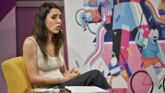 Irene Montero en un reciente acto en el Ministerio de Igualdad. (Foto: Min. Igualdad)