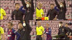 La cara de Simeone al ver el cambio de Griezmann. (Capturas de pantalla)