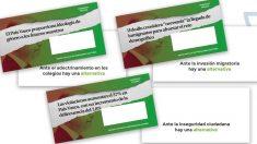 Los sobres de Vox en los que Correos excusó su no envío