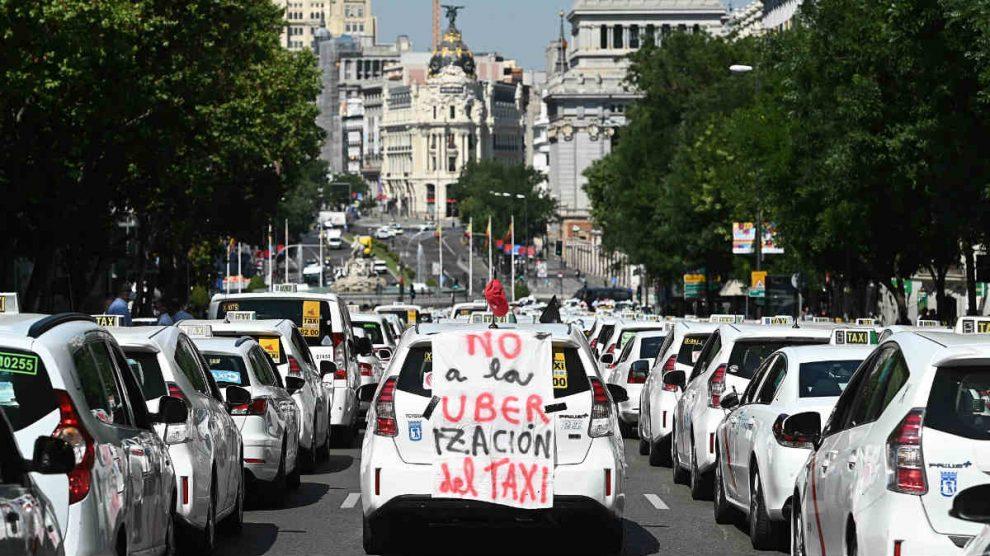 Huelga de taxis este miércoles en Madrid