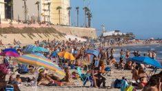Una playa española.