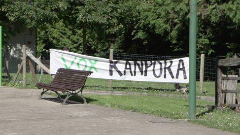 Uno de los carteles que apareció en Zaldívar