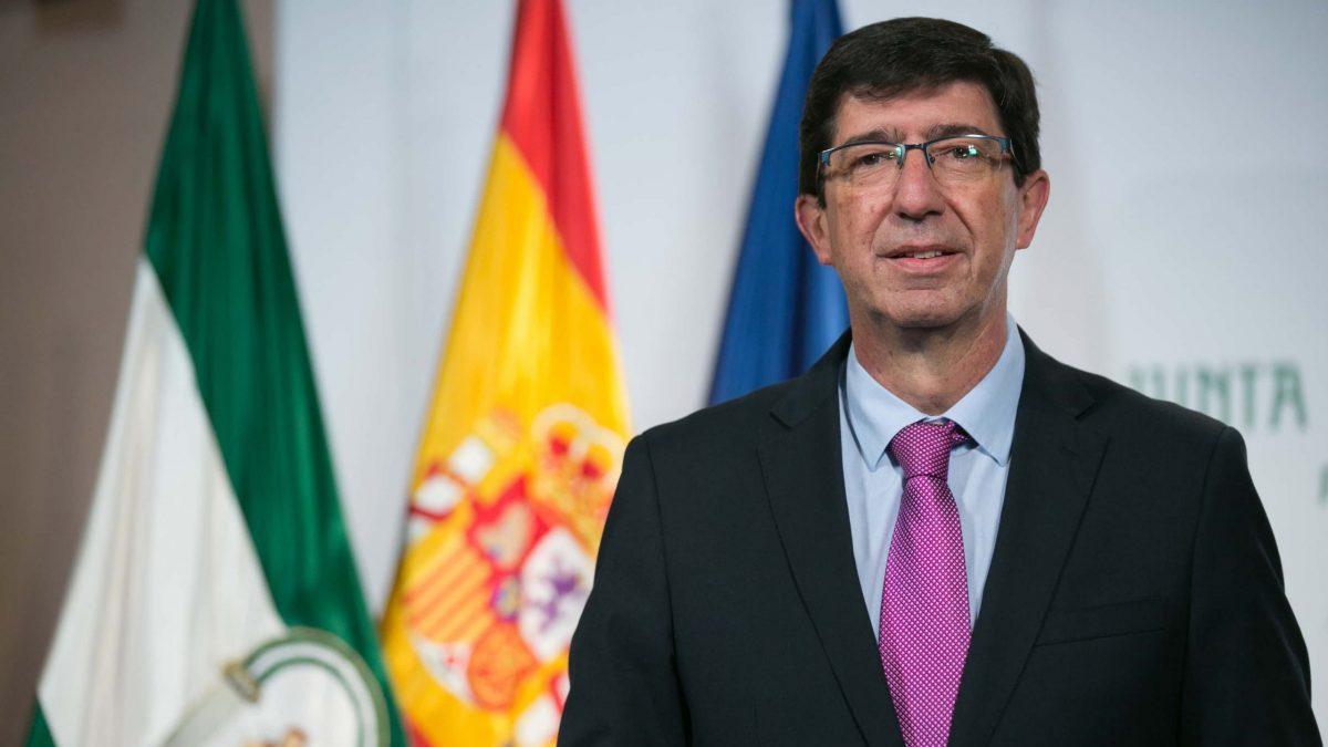 Juan Marín, vicepresidente de la Junta de Andalucía y consejero de Turismo. @JuntaAndalucía