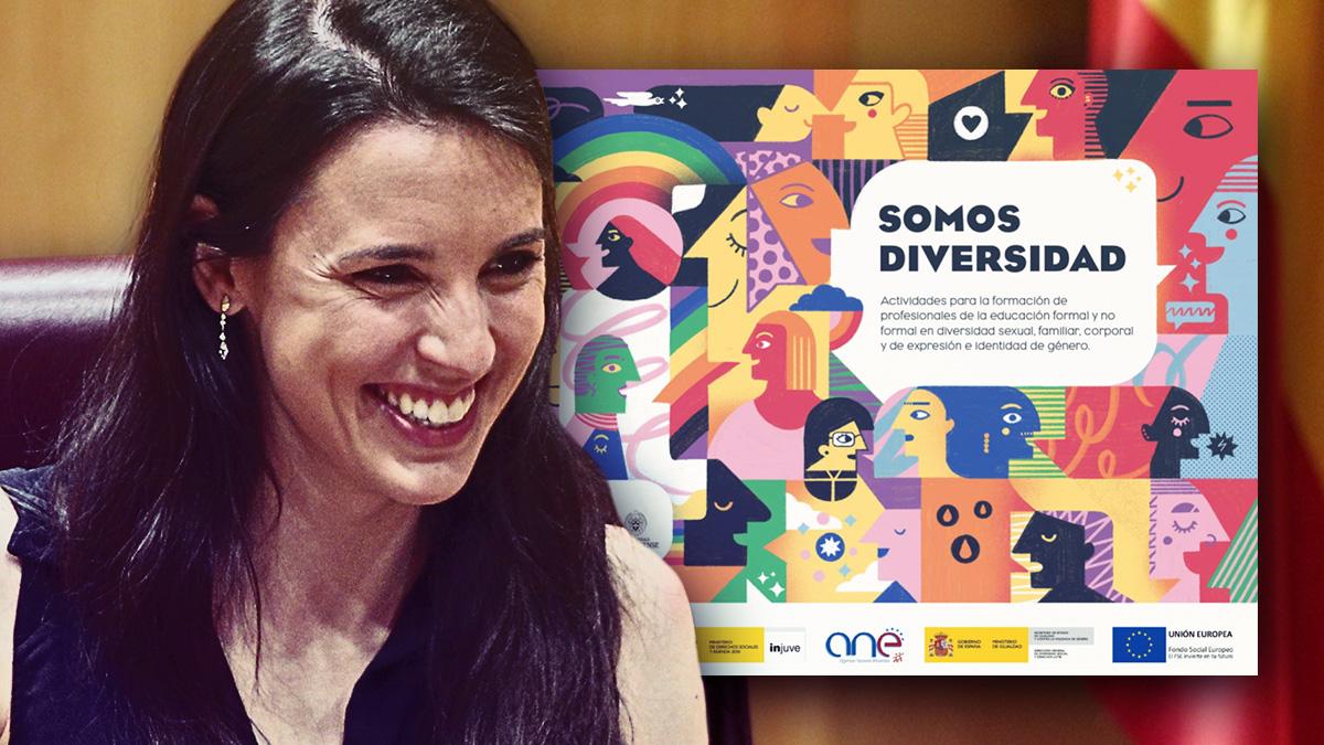 Irene Montero y la portada de su nuevo manual de actividades