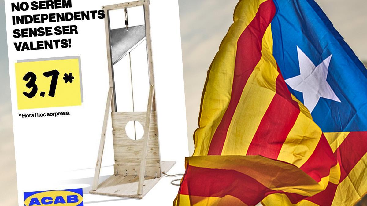 Cartel difundido por los independentistas