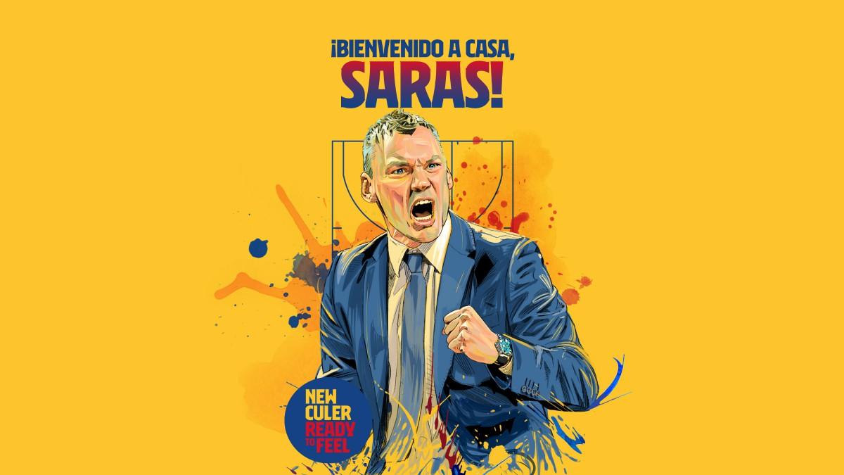 Saras Jasikevicius, nuevo entrenador del Barcelona. (fcbarcelona.cat)
