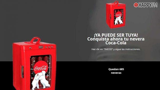 La estafa de las neveras de Coca-Cola en la que no debes caer