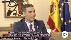 Pedro Sánchez en Al Rojo Vivo
