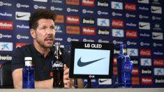 Diego Pablo Simeone, en rueda de prensa. (