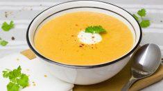 Sopa fría de maíz con jengibre