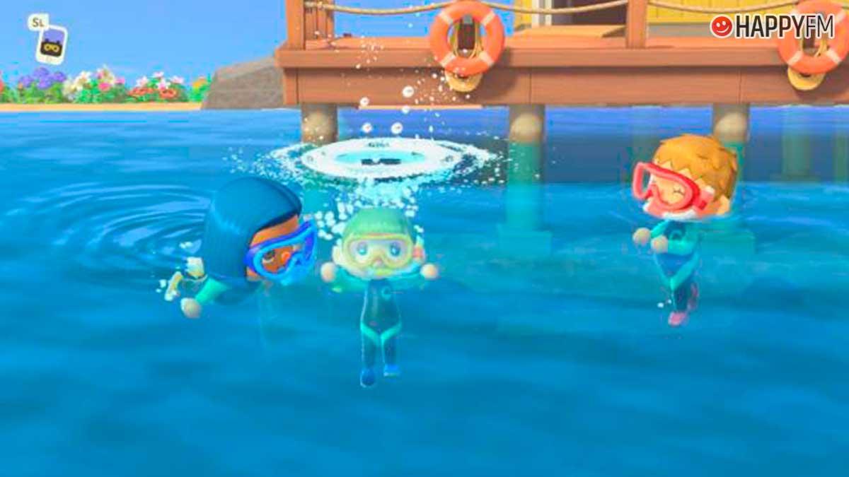 Animal Crossing: New Horizons: Así es la actualización que nos permite nadar